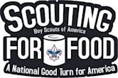 """""""Scout for Food"""" Boy Scouts of America logo"""