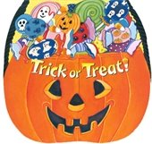"""Jack-O-Lantern with candy inside and """"Trick or Treat"""" written on"""