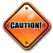 """Caution!"" road sign"