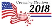 """American Flag - """"Upcoming Elections 2018"""""""