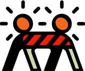 Road Construction Barricade w/lights