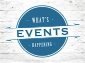 """""""Events - What's Happening"""" sign"""