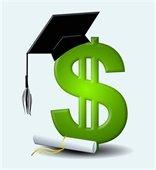 Scholarship - $ w/graduation cap