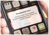 Mobile Phone w/emergency alert test message