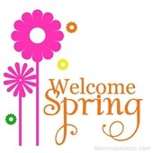 """""""Welcome Spring""""  w/pink flowers"""